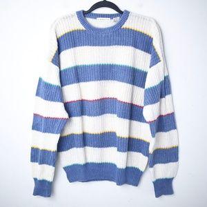 Vintage 1990s Claiborne Chunky Knit Linen Sweater